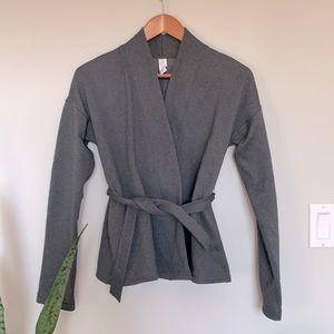 Lululemon Ivivva grey fleece lined wrap cardigan